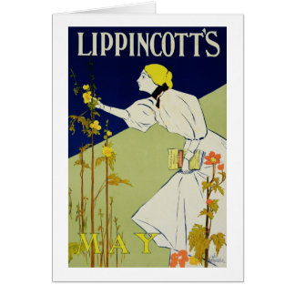 Reproduction of a poster advertising 'Lippincott's Greeting Card