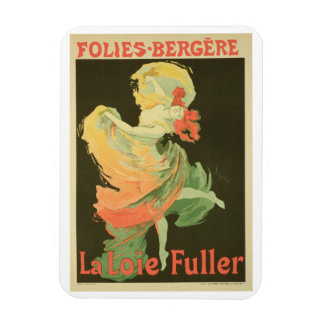 Reproduction of a Poster Advertising 'Loie Fuller' Rectangular Photo Magnet