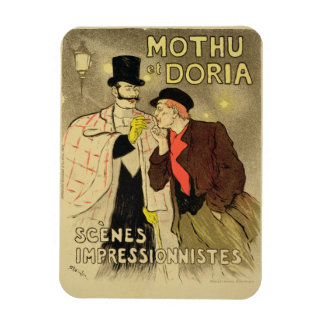 Reproduction of a poster advertising 'Mothu and Do Rectangular Photo Magnet