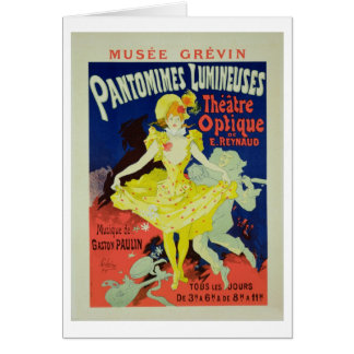 Reproduction of a Poster Advertising 'Pantomimes L Greeting Card