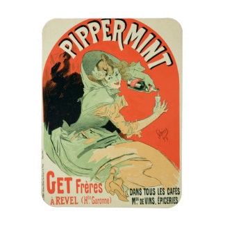 Reproduction of a poster advertising 'Pippermint', Rectangular Photo Magnet