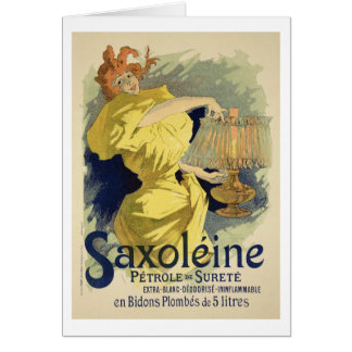 Reproduction of a poster advertising 'Saxoleine', Greeting Card
