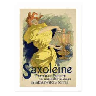 Reproduction of a poster advertising 'Saxoleine', Postcard