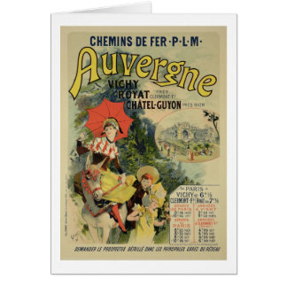 Reproduction of a poster advertising the 'Auvergne Greeting Card