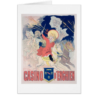 Reproduction of a poster advertising the 'Casino d Greeting Card