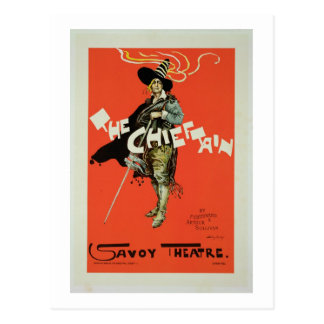 Reproduction of a poster advertising 'The Chieftai Postcard