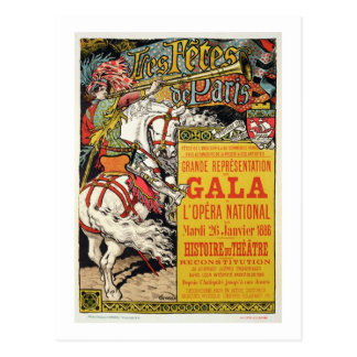 Reproduction of a poster advertising the 'Fetes de Postcard