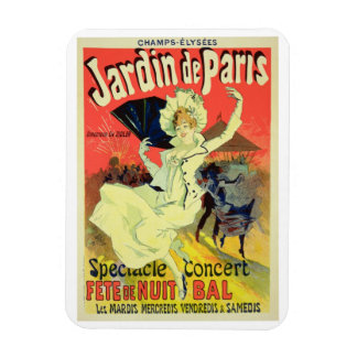 Reproduction of a Poster Advertising the 'Jardin d Rectangular Photo Magnet