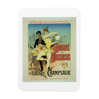 Reproduction of a poster advertising 'The Lover of Rectangular Photo Magnet