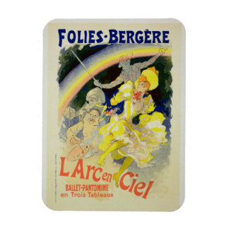 Reproduction of a poster advertising 'The Rainbow' Rectangular Photo Magnet