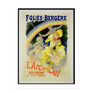 Reproduction of a poster advertising 'The Rainbow' Postcard