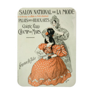 Reproduction of a poster advertising the 'Salon Na Rectangular Photo Magnet