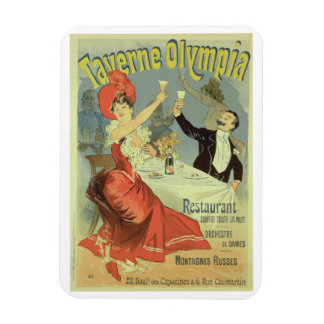 Reproduction of a poster advertising the 'Taverne Rectangular Photo Magnet