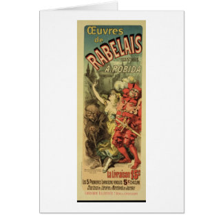 Reproduction of a poster advertising 'The Works of Greeting Card
