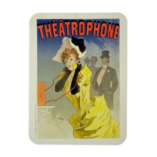 Reproduction of a poster advertising 'Theatrophone Rectangular Magnets