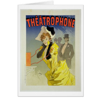 Reproduction of a poster advertising 'Theatrophone Greeting Card