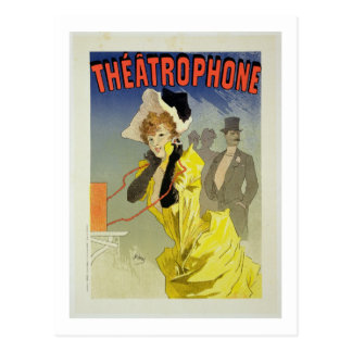 Reproduction of a poster advertising 'Theatrophone Postcard