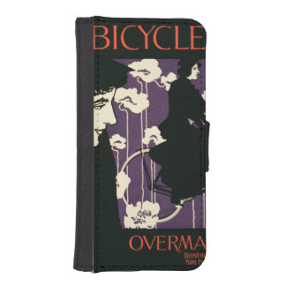 Reproduction of a poster advertising 'Victor Bicyc iPhone 5 Wallets