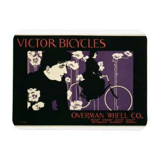 Reproduction of a poster advertising 'Victor Bicyc Rectangular Photo Magnet