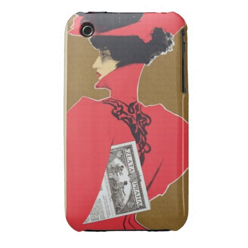 Reproduction of a poster advertising 'Zlata Praha' Case-Mate iPhone 3 Case