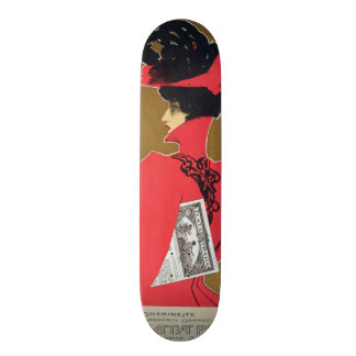 Reproduction of a poster advertising 'Zlata Praha' Skate Board Deck