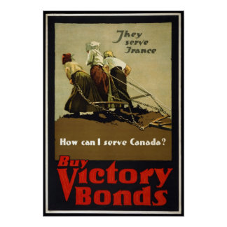 Reproduction of a vintage WW1 Canadian Poster