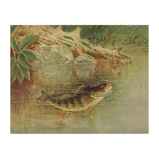"Reproduction of Nathaniel Banta's ""Yellow Perch"" Wood Wall Decor"