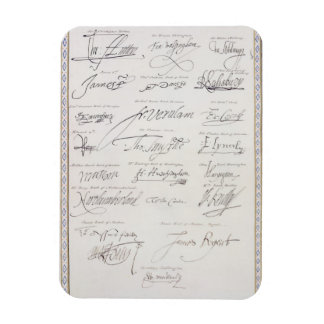Reproduction of Signatures of the Tudors and their Rectangular Photo Magnet
