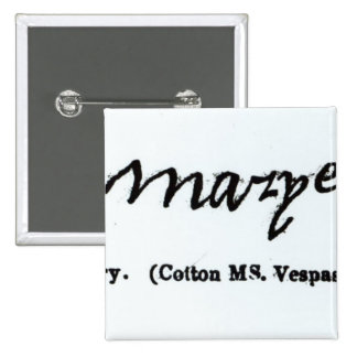 Reproduction of the signature of Mary I Button
