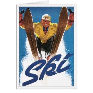 Reproduction Ski poster Greeting Card