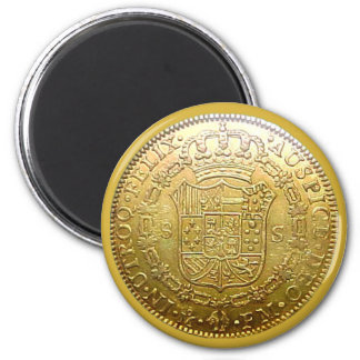 Reproduction Spanish Gold Doubloon Magnet Tails