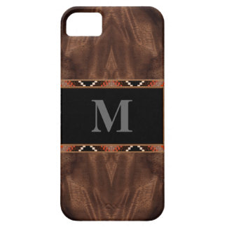 Reproduction Wood Grain with Inlaid Wood Frame iPhone 5 Case