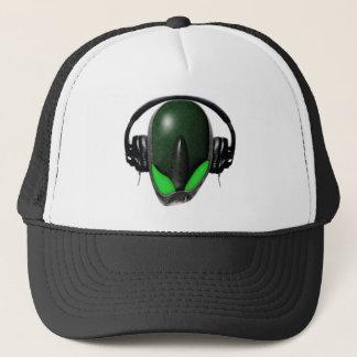 Reptile Alien {Angry} Pissed Off DJ in Headphones Trucker Hat