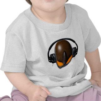 Reptile Alien Pissed Off DJ in Headphones - Orange Shirt