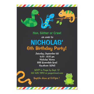 Reptile Birthday Party Invitation / Reptile Party