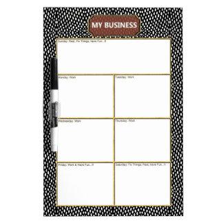 Reptile Black White Business Dry Erase Board