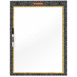 Reptile Black White Dry Erase Big Plain Board