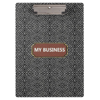 Reptile Black White My Business Clipboard