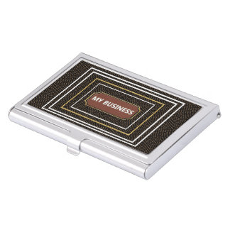 Reptile Brown Black business cards holder