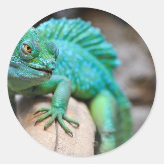 reptile classic round sticker