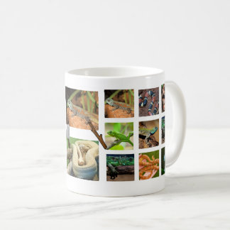 Reptile Collage Photo Mug (Round)