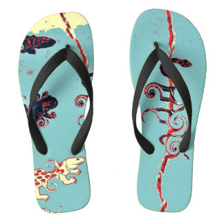 Reptile Collection:  Bue Flip Thongs