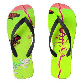 Reptile Collection:  Vivid Flip Thongs