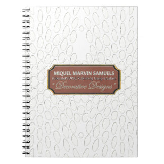 Reptile Decorative#1-a White Modern Notebook
