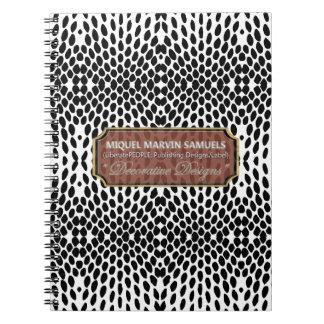 Reptile Decorative Black White Modern Notebook
