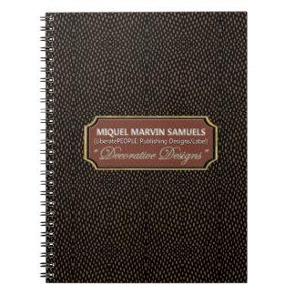 Reptile Decorative dot Brown Black Modern Notebook
