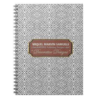 Reptile Decorative dot White Black Modern Notebook