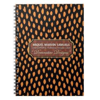 Reptile Decorative Orange Black Modern Notebook