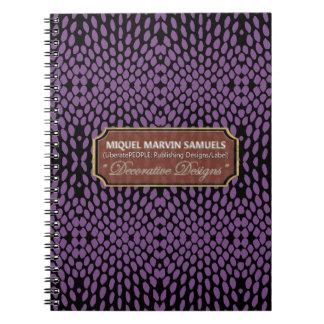 Reptile Decorative Purple Black Modern Notebook