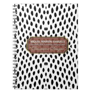 Reptile Decorative White & Black Modern Notebook